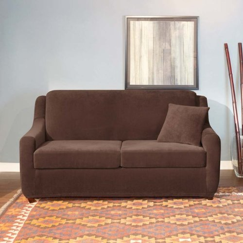 Stretch Pearson Sleeper Sofa Cover - Queen front-744141