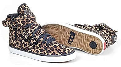 Radii Straight Jacket Vlc Mens High Top Shoes (6, Leopard Black)