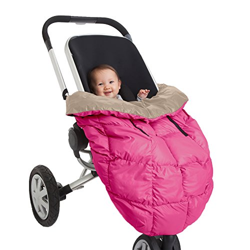 7AM Enfant Cygnet: 3-in-1 Cover for the Baby Carrier, Car-Seat and Stroller, Neon Pink/Beige - 1