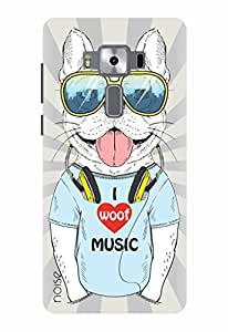 Noise Designer Printed Case / Cover for Asus Zenfone 3 Deluxe ZS570KL with 5.7 Inch screen size/ Animated Cartoons / Woof Music