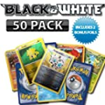 50 Pack Black and White Pokemon Cards...