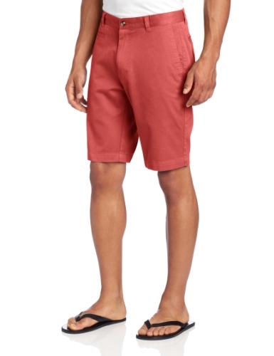 Louis Raphael Men'S Slim Fit Garment Dye Short, Red Clay, 32