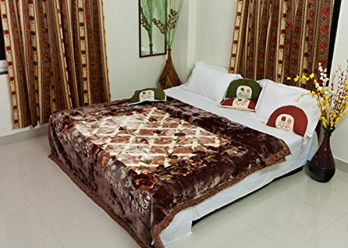 Buy Picaso Supersoft Double Ply Double Bed Mink Blanket
