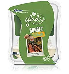 Glade PlugIns Scented Oil Refill, Sunset Walk, 2 Refills by Glade