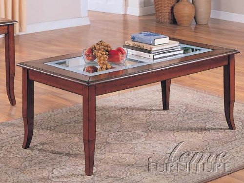 Beautiful Coffee table w/ Beveled Glass Top ACS108400