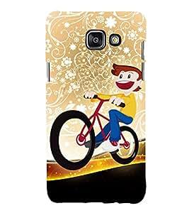 Boy on a Cycle 3D Hard Polycarbonate Designer Back Case Cover for Samsung Galaxy A7 (2016) :: Samsung Galaxy A7 2016 Duos :: Samsung Galaxy A7 2016 A710F A710M A710FD A7100 A710Y :: Samsung Galaxy A7 A710 2016 Edition