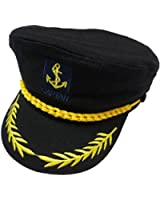 eYourlife2012 Adult Yacht Boat Ship Captain Costume Navy Marine Admiral Hat Cap