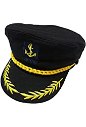 eYourlife2012 Adult Yacht Boat Ship Captain Costume Navy Marine Admiral Hat Cap