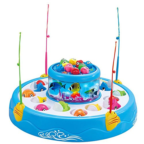 Jacone-Double-Fish-Pool-Electric-Rotating-Magnetic-Fishing-Game-with-the-Music-Light-Novelty-Kid-Child-Educational-Toy-Christmas-ToyBlue