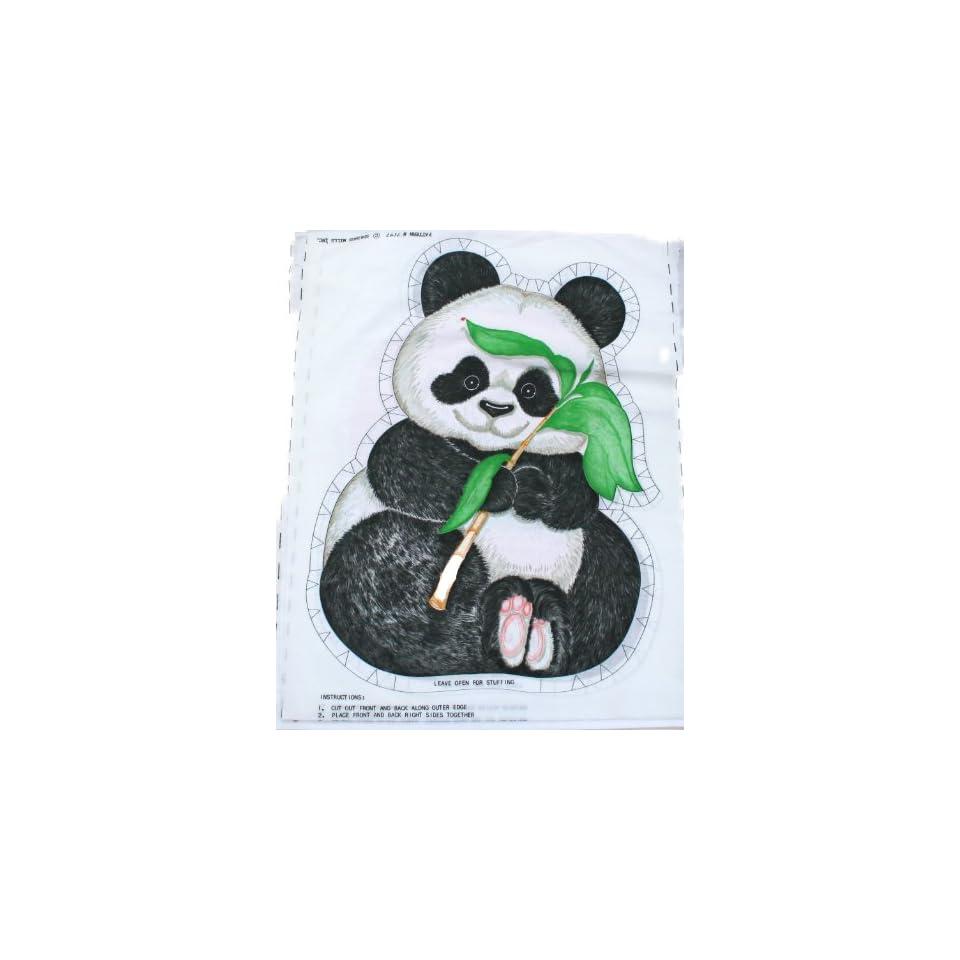 Springs Mills Panda Bear Doll Pillow Fabric Panel