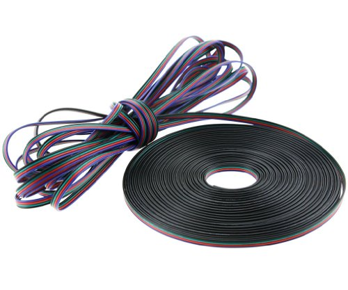 20m Länge 5050 3528 LED RGB Kabel 4-Adrig Strip Anschlußkabel Verbindung