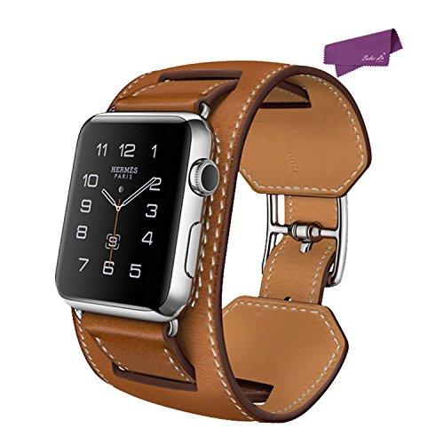 salesla-smart-watch-band-fur-apple-uhr-42mm-iwatch-bugel-echtes-leder-uhrenarmband-brown
