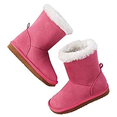 Amazon.com: Carter's Little Girls' Faux Fur Boots (Pink