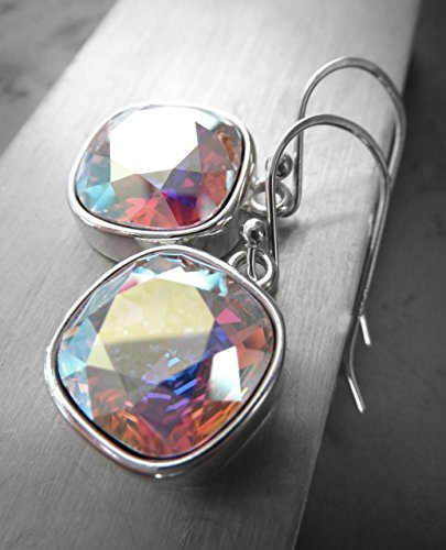 swarovski-crystal-earrings-with-clear-crystal-ab-finish-with-silver-plated-bezels
