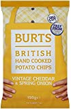 Burts Potato Chips Mature Cheddar 150 g (Pack of 10)