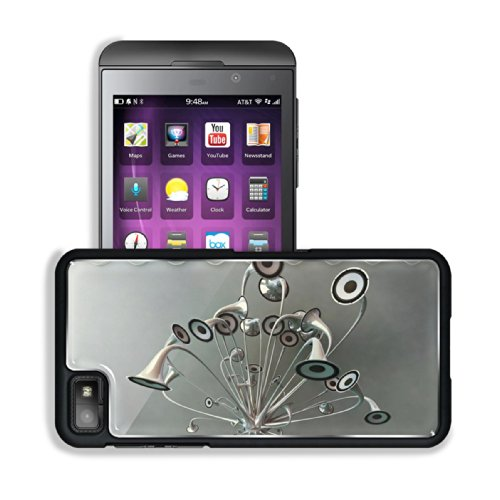 Variety Silver Metallic Speaker Design Blackberry Z10 Snap Cover Premium Aluminium Design Back Plate Case Customized Made To Order Support Ready 5 3/16 Inch (131Mm) X 2 5/8 Inch (67Mm) X 4/8 Inch (13Mm) Luxlady Blackberry Z 10 Professional Metal Cases Bla