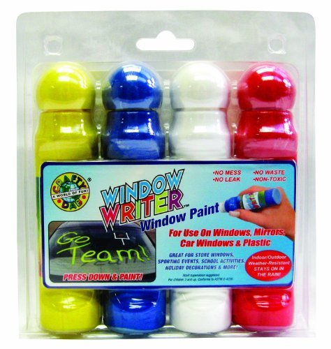 Stays On In Rain - Clarence J. Venne Window Writer, 4-Pack Clamshell (75552)