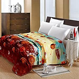 - Comforter Soft Simple Fashion Pattern Stay Warm Thickening Flannel ...