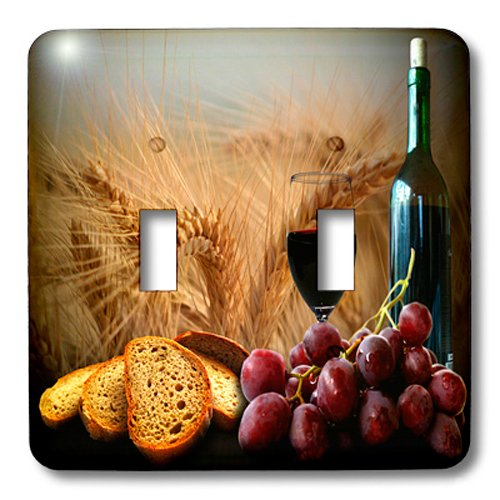 3dRose lsp_14294_2 Wine Bread Grapes Double Toggle Switch (Grape Light Switch Cover compare prices)