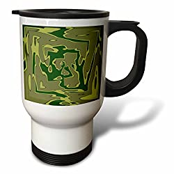 3dRose Army Dad Green Camouflage Travel Mug, 14-Ounce, Stainless Steel