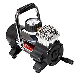 Cartman DC12V Heavy Duty Air compressor, Portable Inflator with Storage Bag