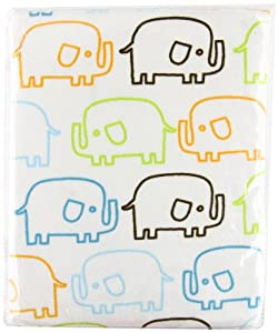 Zutano Elephants Velour Changing Pad Cover