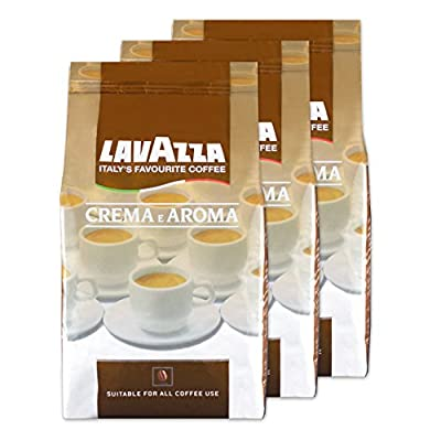 Lavazza Crema E Aroma Coffee Beans, Pack of 3, 3 x 1000g