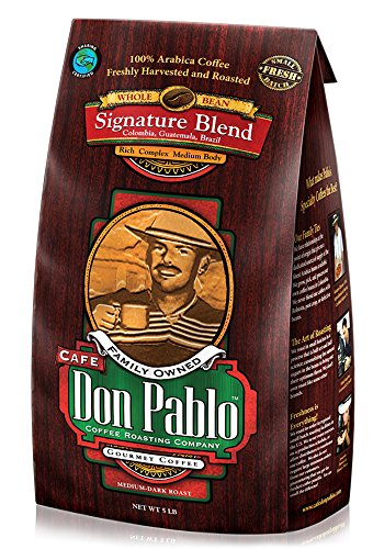 5LB Cafe Don Pablo Gourmet Coffee Signature Blend - Medium-Dark Roast Coffee - Whole Bean Coffee - 5 Pound ( 5 lb ) Bag (Whole Bean Guatemala Coffee compare prices)