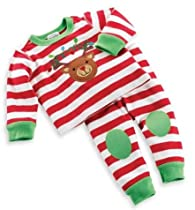 Mud Pie Baby-Girls Newborn Reindeer Lounge Set, Multi, 0-6 Months