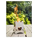 Solo Stove Titan – Larger Version of Original Solo Stove. Super-efficient Wood Burning Backpacking Stove. Great for Camping, Hiking, Survival, Emergency Preparation