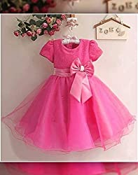 Snoby Pretty Pink Party frock(SBY856)