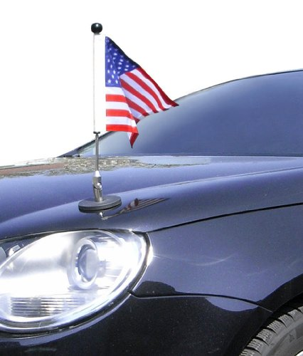 Magnetic Car Flag Pole Diplomat-1 USA (Magnetic Emblem compare prices)