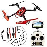 ToyJoy F1C Wifi Real-time Video Quadcopter RC Headless Drone Explorers for 3D Flip with HD Camera & Transmitter & Mobile Phone Holder - Red