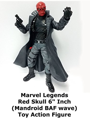 "Marvel Legends RED SKULL 6"" inch Review (Infinite Series Mandroid BAF) toy action figure"