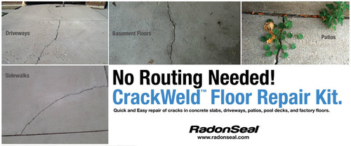 crackweld pro concrete floor repair kit seal cracks in a basement
