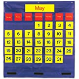 Learning Resources Bilingual Monthly Calendar Pocket Chart