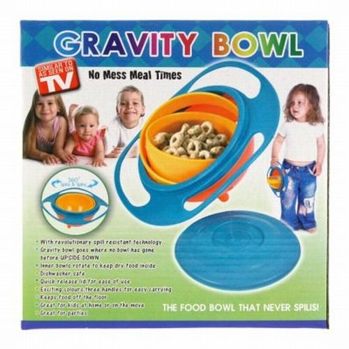 Gravity Bowl Spill Resistant Kid'S Snack Food Dish + Lid front-884215