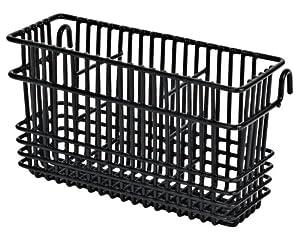 "Utensil Drying Rack - 3 Compartment (Black) (7.75""L x 2.75""W x 4.25""H)"