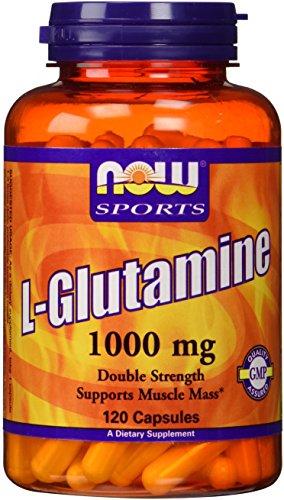 NOW Foods L-Glutamine 1,000 mg Caps, 120 ct