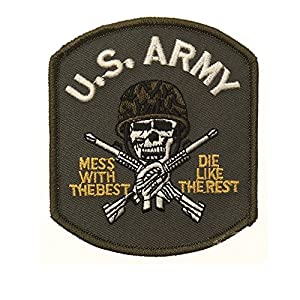 Ecusson / Patch Brode U.s. Army Skull Avec Casque Thermo Collant Airsoft Kza-e705/442306735