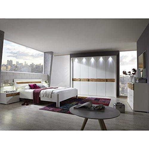 Schlafzimmer Set »ADRIA230« San Remo-Eiche, weiß, 200x210cm, für 200cm Bettbreite, Mit Beleuchtung, Passpartourahmen mit Beleuchtung günstig kaufen