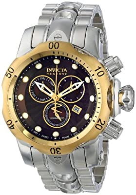 Invicta Men's INVICTA-10801 Venom Analog Display Swiss Quartz Silver Watch