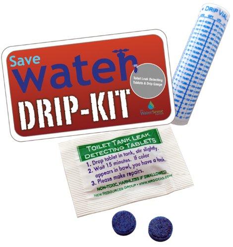 Drip Kit Toilet Leak Detecting Tablets. Dye Tablets for Bathroom Leaks, Detect Silent Leaks | Drip Gauge Vial
