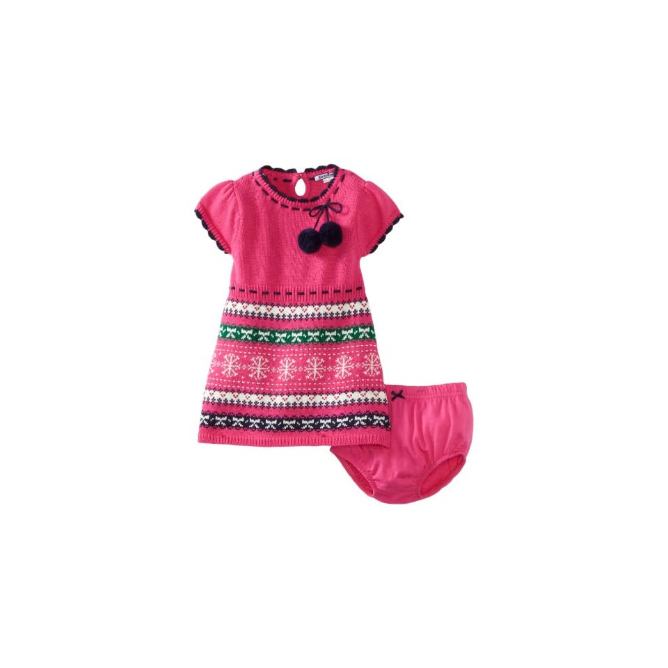 Hartstrings Baby Girls Fair Isle Sweater Dress and Diaper Cover Set
