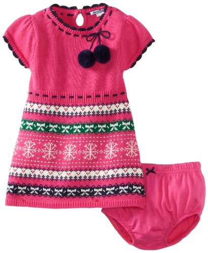 Hartstrings Baby girls Infant Fair Isle Sweater Dress and Diaper Cover Set  Fuchsia 3 6 Months 1e7ffc169