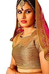Melluha Brocade Stitched Customizable Blouse with Santoon Inner