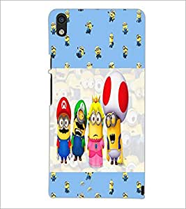 PrintDhaba Cartoons D-4938 Back Case Cover for HUAWEI ASCEND P6 (Multi-Coloured)