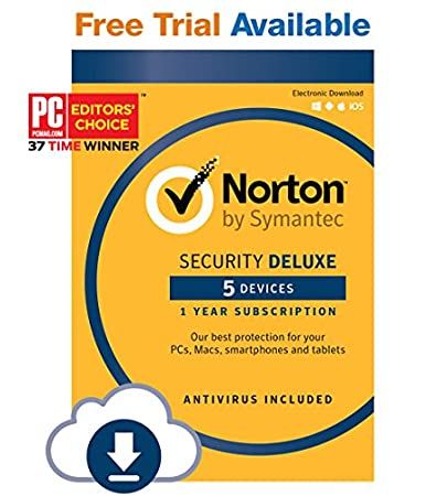 Norton Security Deluxe - 5 Devices - 12 Month Subscription