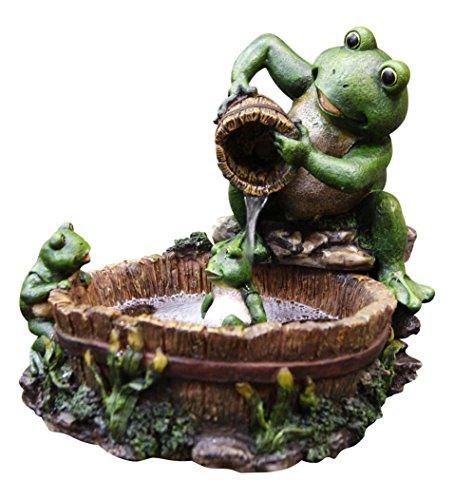 Alpine TT2508 Eternity Tabletop Fountain: Mother Frog Bathing Family (Frog Tabletop Fountain compare prices)