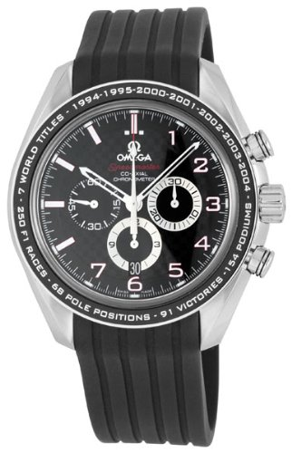 Omega Men's 32132445001001 Speedmaster Co-Axial Black Chronograh Dial Watch
